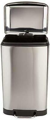 Rectangle Soft-Close Can with Steel Bar - 40L,