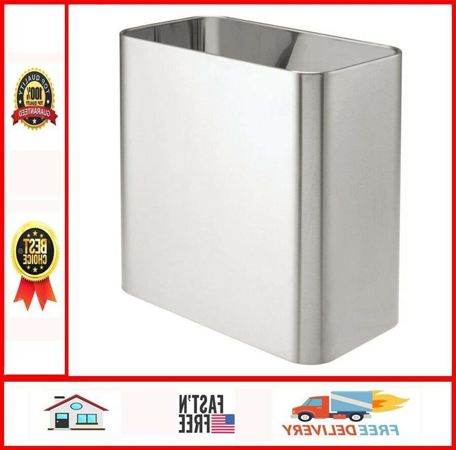 Rectangular Small Trash Can Wastebasket Kitchens Home Office