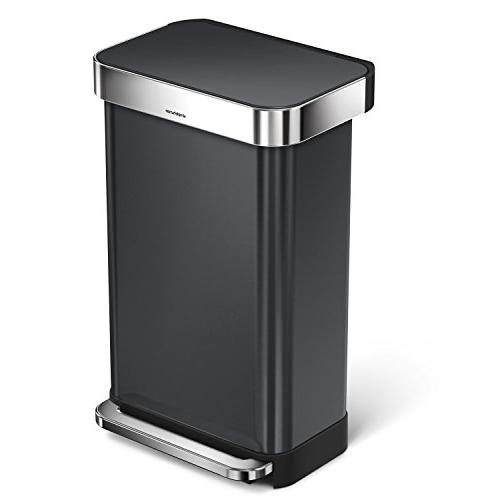 rectangular trash can stainless steel