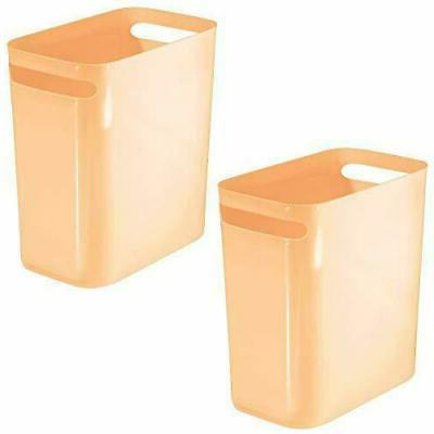 rectangular trash can wastebasket
