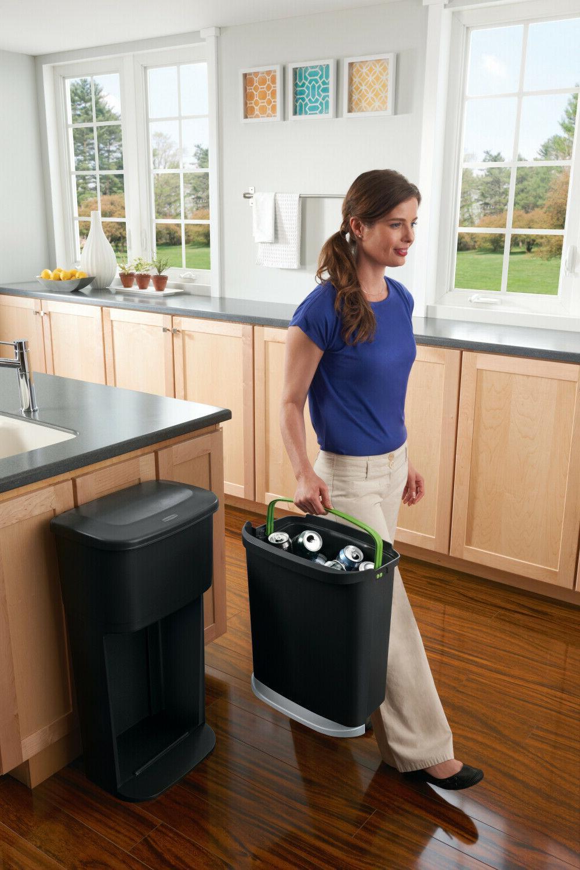Recycling Modular LinerLock Trash Can Decker Bins Waste Kitchen Storage