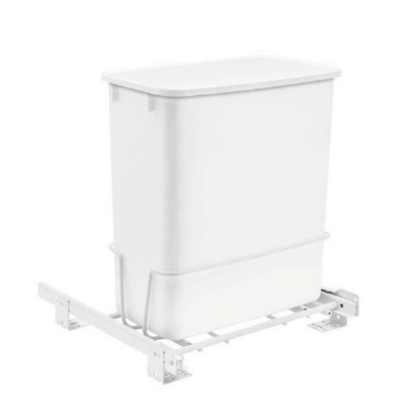 Rev-A-Shelf Pull-Out White Waste Container Frame