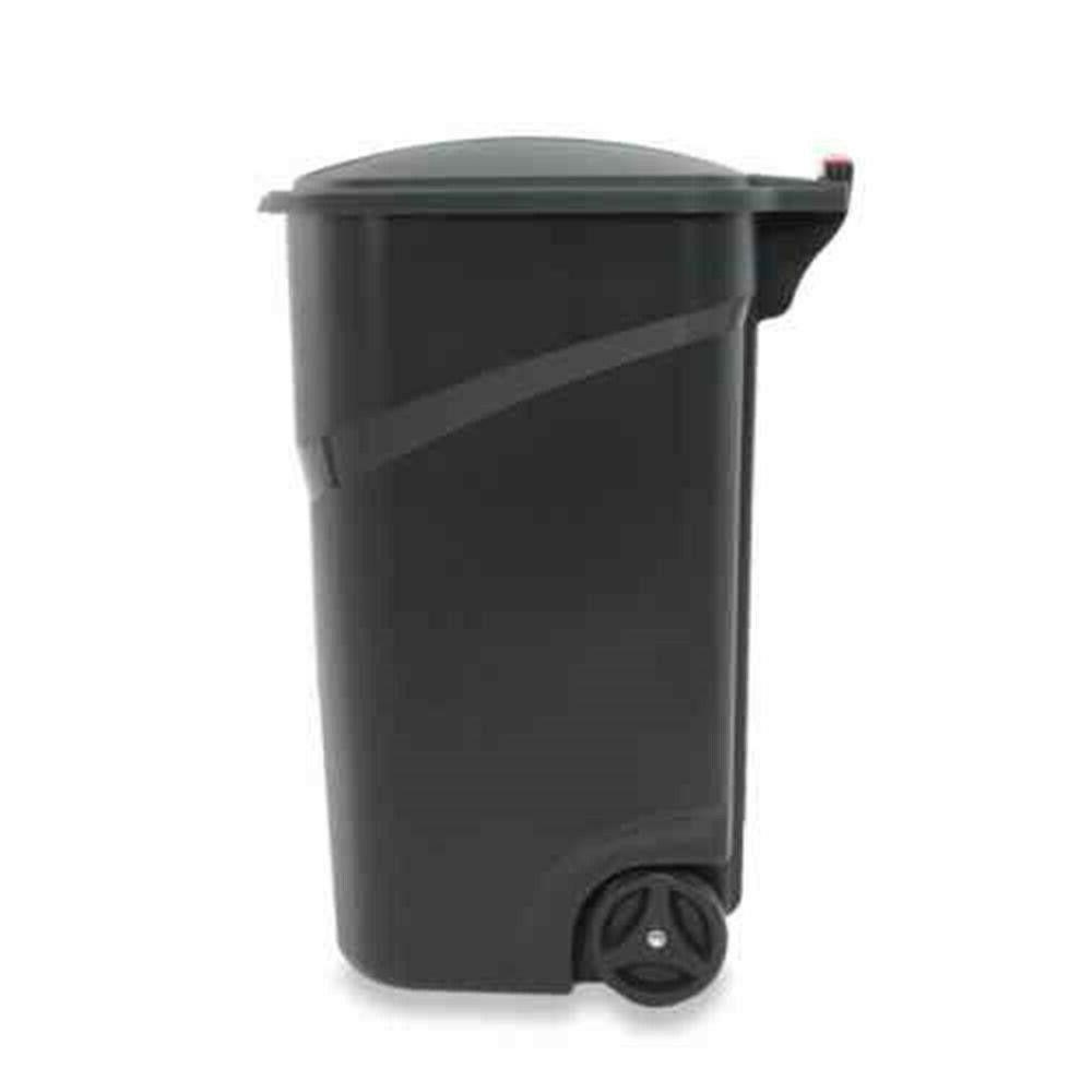 Rubbermaid Heavy Duty 45 Trash with Hinged Lid