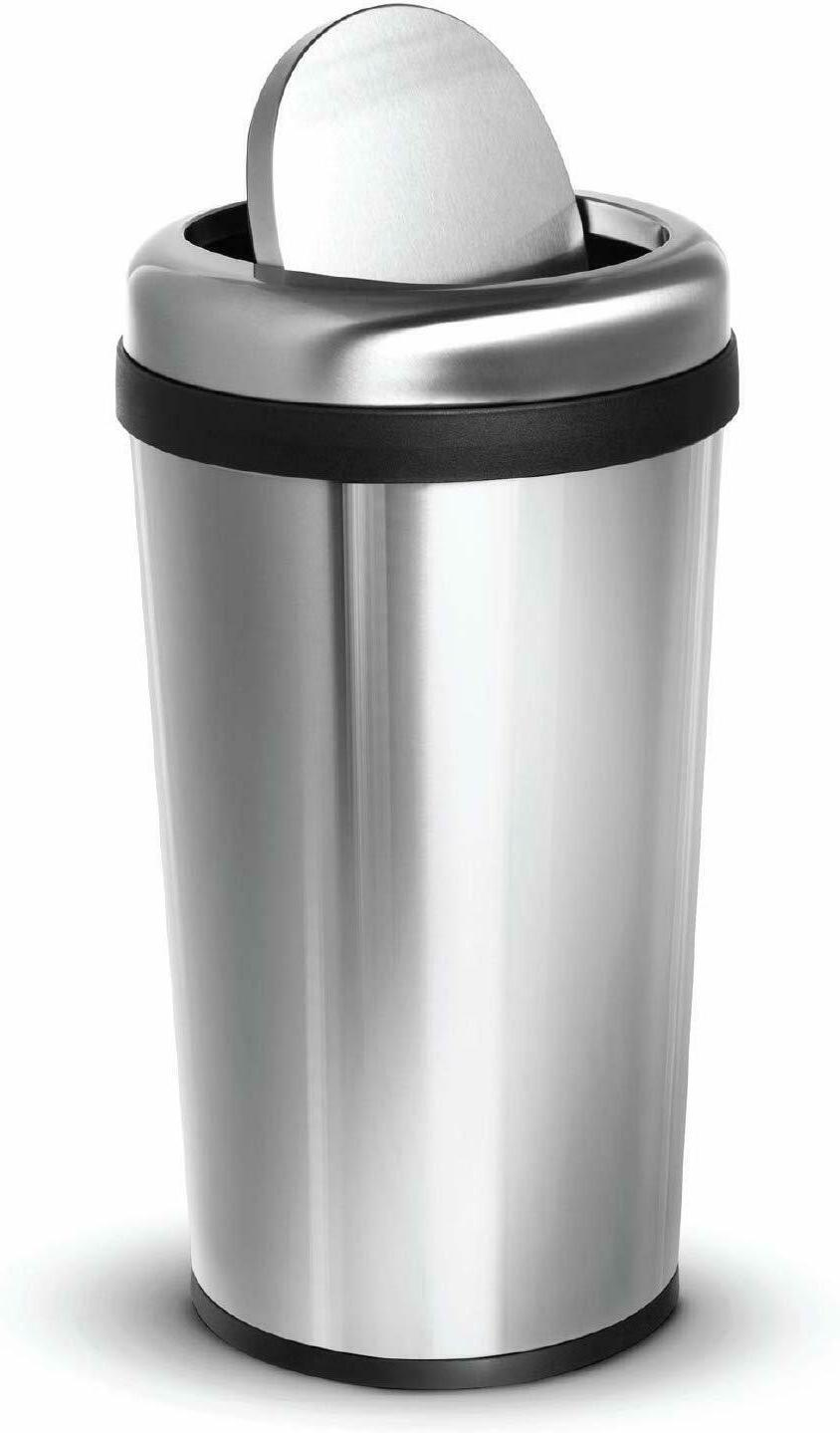 home zone living round kitchen trash can, 12g/45l