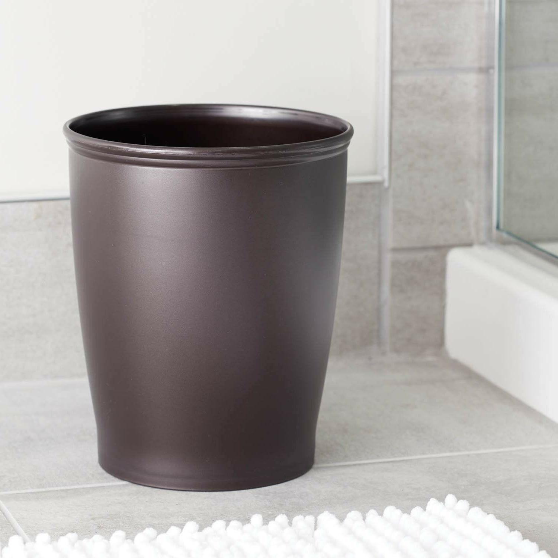 Round Kitchen Trash Can Bathroom Modern Office Waste Garbage