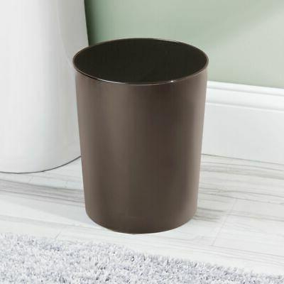 round metal small trash can wastebasket garbage
