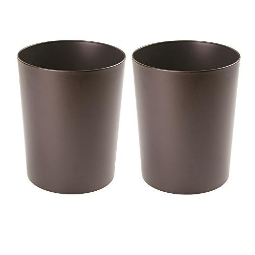 round metal trash can wastebasket