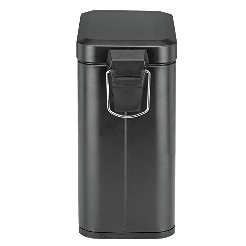 mDesign 5 Liter Small Can Wastebasket, Bin Room, Kitchen, Room, -