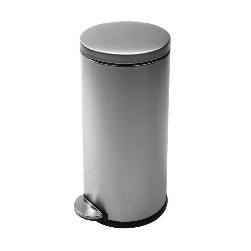simplehuman Trash Can, Stainless Steel, Gallons, ea