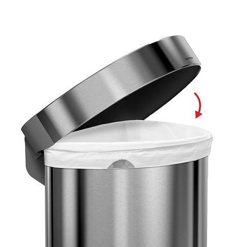 simplehuman Litre 16 Gallon Step Liner Brushed Stainless Steel, L