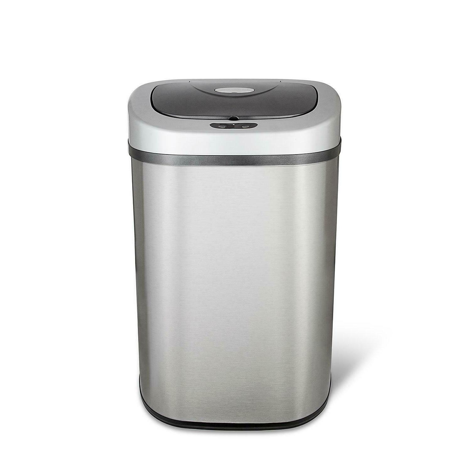 sensor trash can stainless steel 21 1