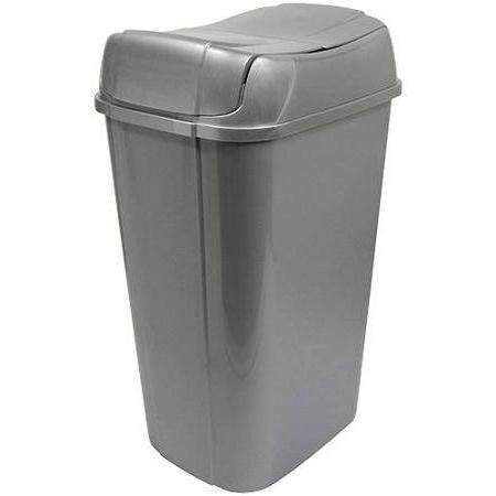 silver pivot lid kitchen trash