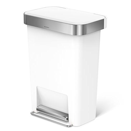 simplehuman 45 Liter 12 Step with Liner Pocket, Plastic with Rim