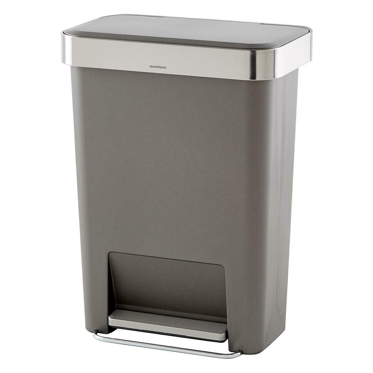 simplehuman 45 Liter / 12 Gallon Rectangular Kitchen Step Tr