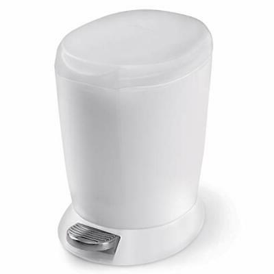 simplehuman 6 Liter / 1.6 Gallon Compact Plastic Round Bathr