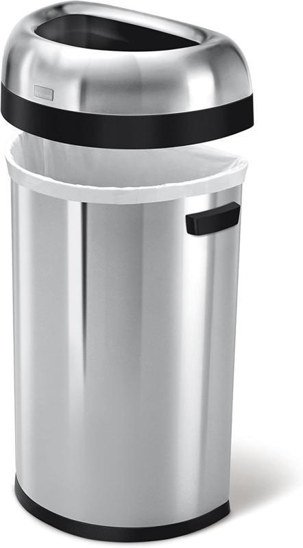 Simplehuman 60 Liter / 15.9 Gallon Open Top Can Commercia