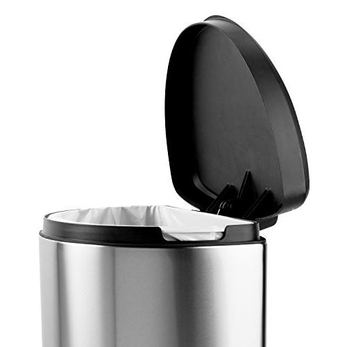 simplehuman Step Can, Brushed Stainless Steel, 40 10.5 Gallons, ea