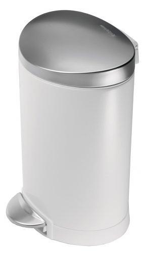 Bin, 6 White Steel