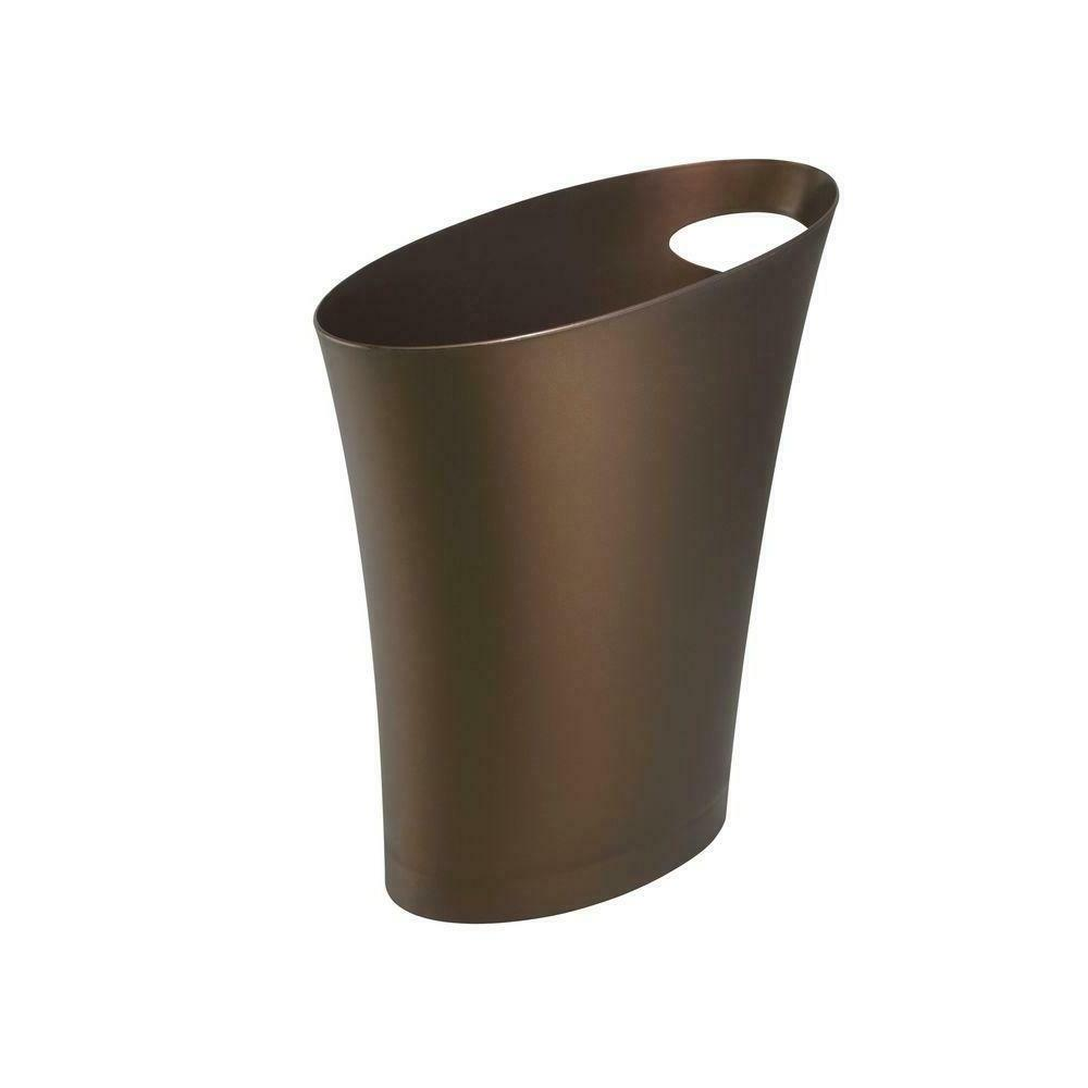 Umbra Skinny Polypropylene Waste Can, Bronze