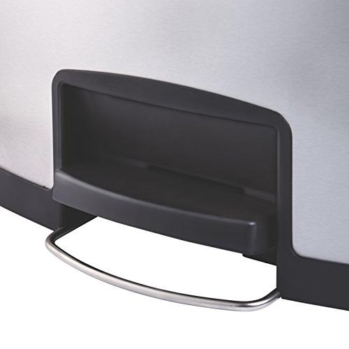 "Rubbermaid Commercial Slim Capacity - 28.7"" Height X Width Stainless Steel, - Black"