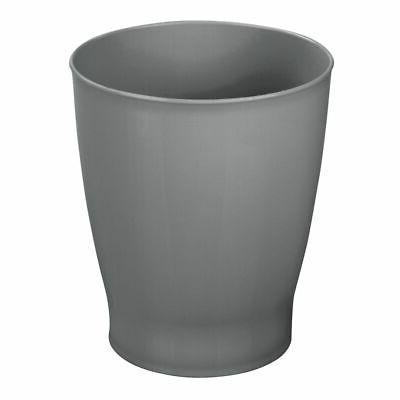 mDesign Slim Round Plastic Small Trash Can Wastebasket, Garb