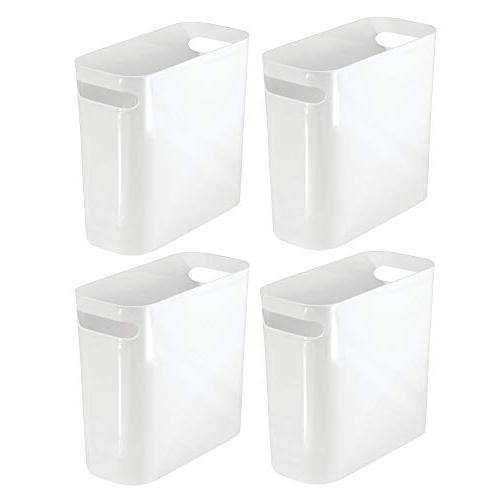 slim rectangular trash can wastebasket