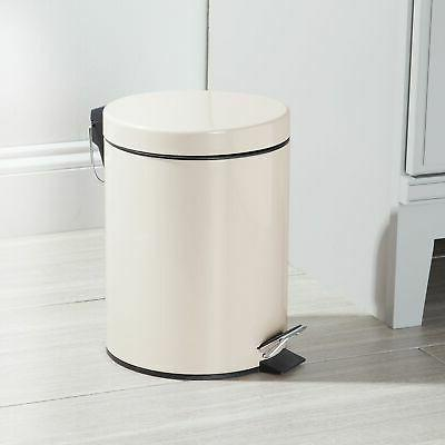 mDesign Small Trash Can Removable Liner,