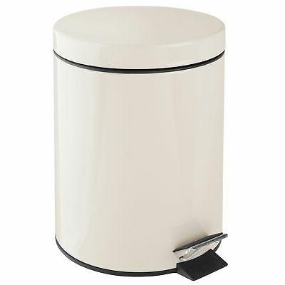 mDesign Small Round Trash Can Garbage Removable 5L