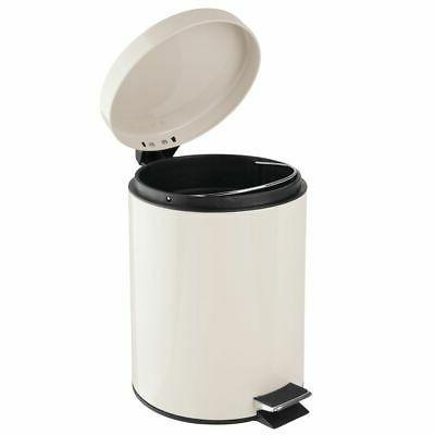 mDesign Small Round Trash Bin, Removable 5L