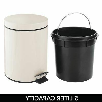 mDesign Small Trash Removable