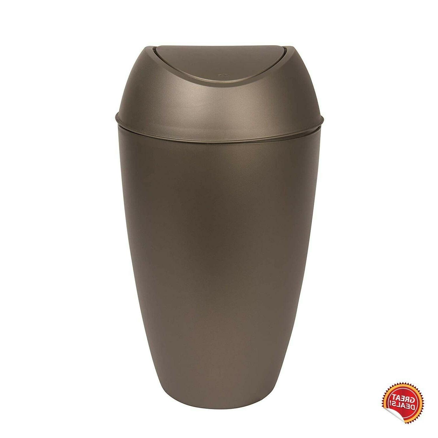 Small Trash Can With Lid Bedroom Bin Kitchen Waste Basket Swing Top