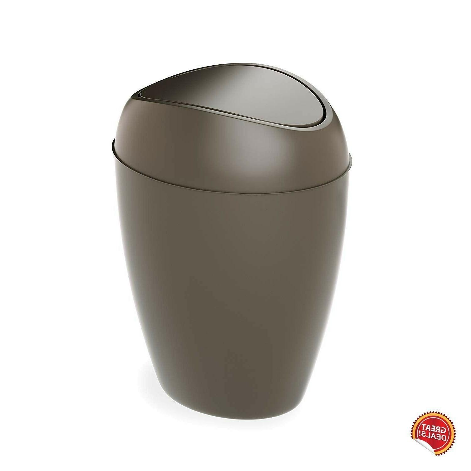 Small Trash Can With Lid Bedroom Kitchen Basket Swing