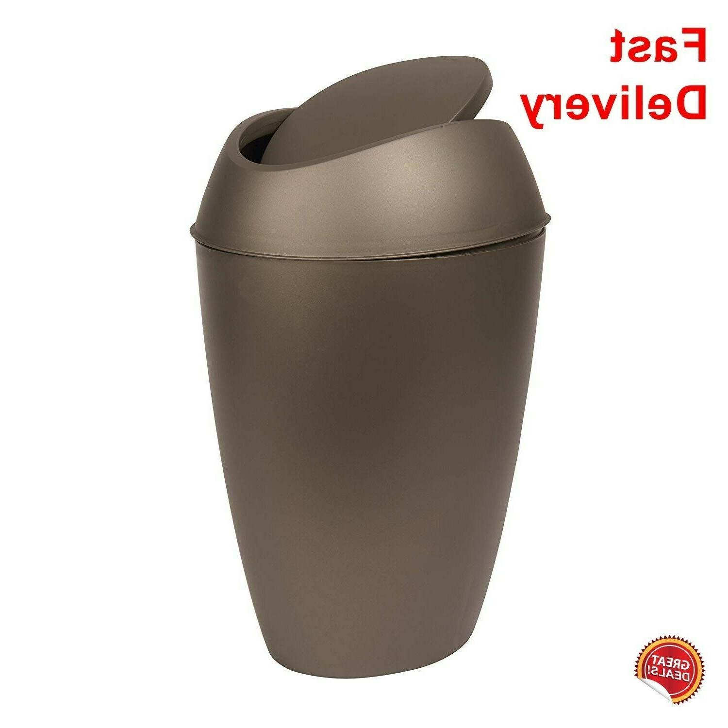 small trash can with lid bathroom bedroom