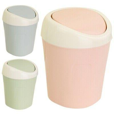Mini&Small Trash Garbage Can Plastic Swing Lid Bathroom Kitc
