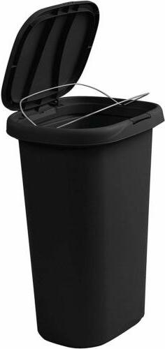 Rubbermaid Spring-Top Lid Trash Can for Home Kitchen Bathroo