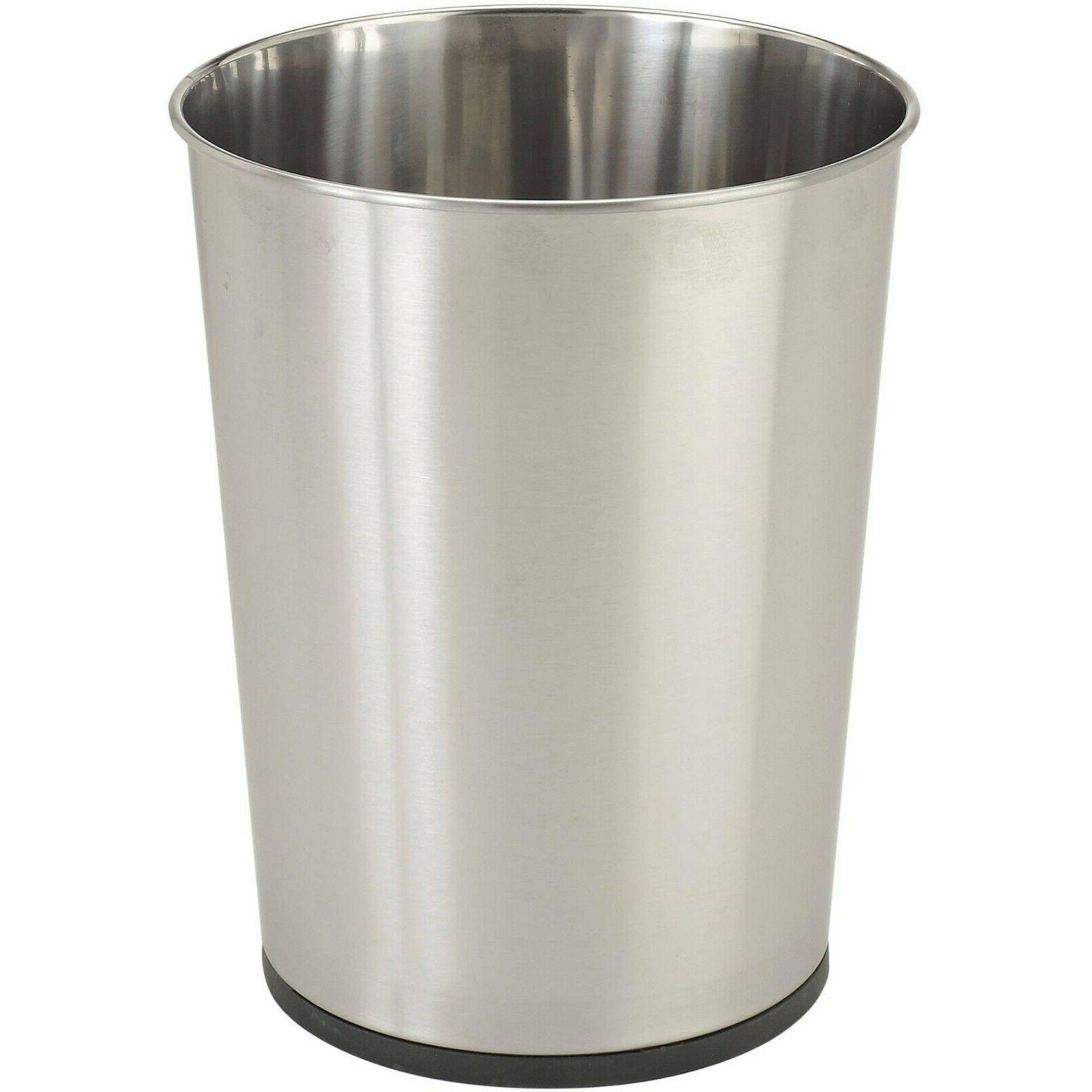 stainless bath waste trash can