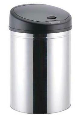 stainless steel automatic lid trash can hands