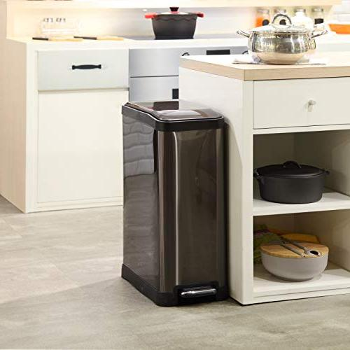 Home Zone Steel Kitchen with Rectangular Design and Pedal 45 / Bin