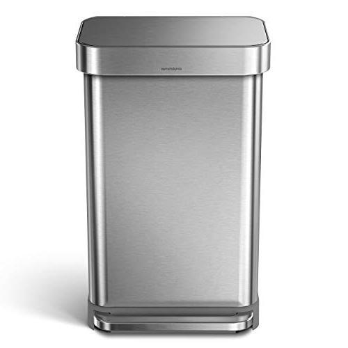 stainless steel rectangular kitchen trash