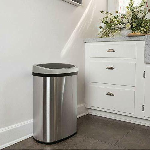 Stainless Steel Trash Can For Home Kitchen Vehicle Kids Room 13 Gallon  Garbage