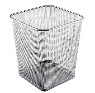 steel mesh square open top waste basket