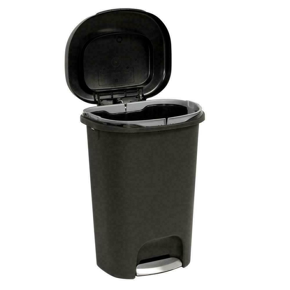 Durable Can Bin Waste Container 13 Black