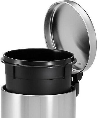 Step Bin Lid Kitchen Round Steel 1.2-Gallon