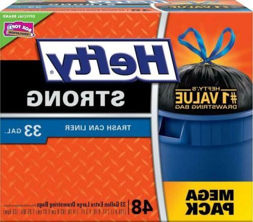 strong large trash bags 33 gallon can