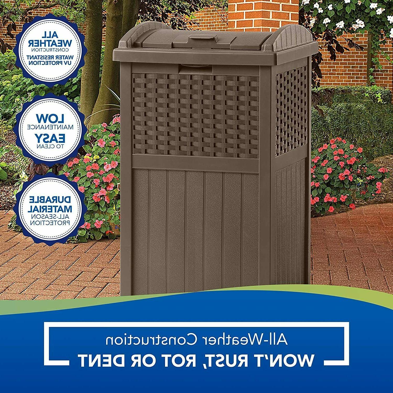33 Gallon Outdoor Patio Outdoor Trash Can