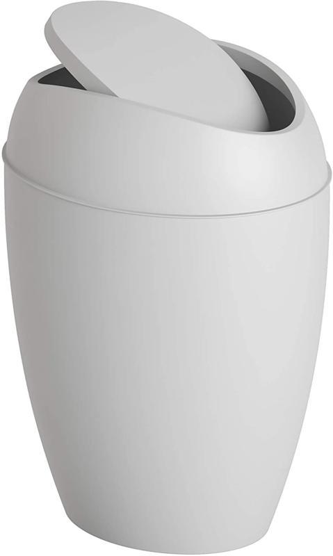 Swing Lid Bathroom Trash Waste Container