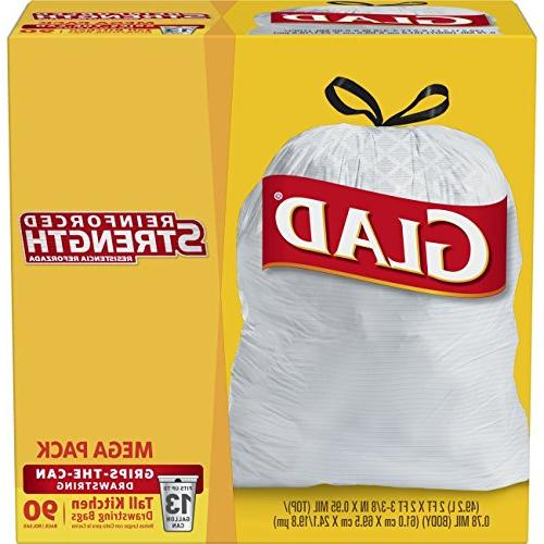 tall kitchen drawstring trash bag