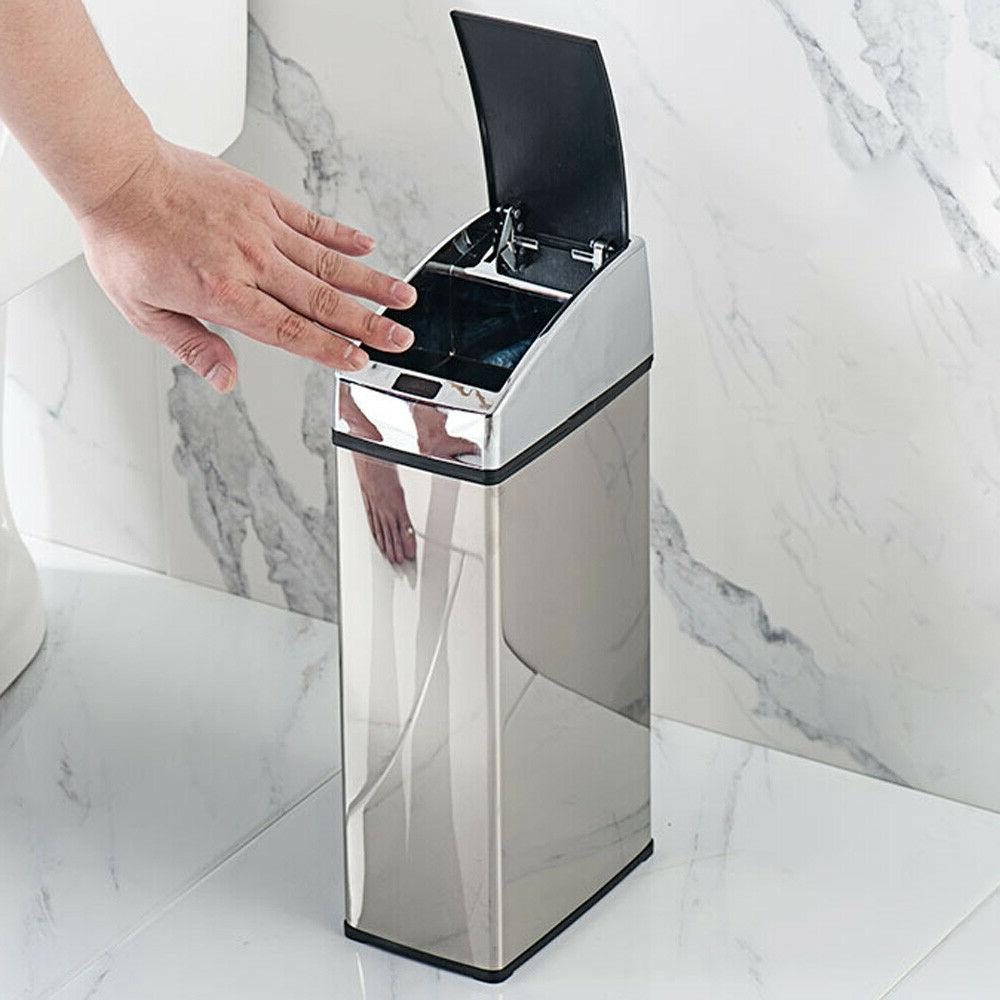 touch free sensor trash can automatic office