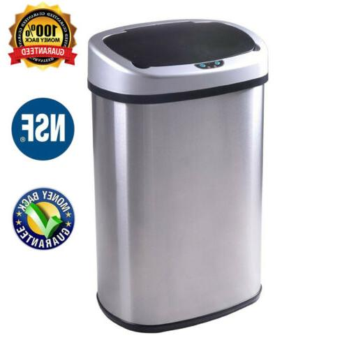 auto stainless steel trash can touch free