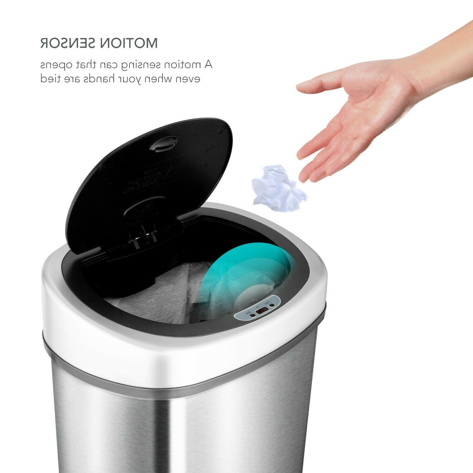 NineStars Motion Sensor 13.2-Gallon Trash Can Multi